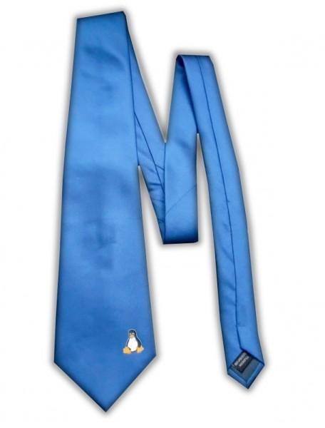 Linux Krawatte - Pinguin Tux - blau
