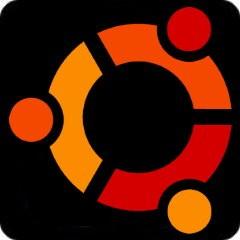 Notebook-Sticker - ubuntu - schwarz