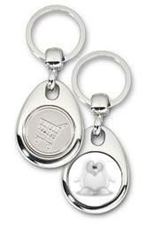 Schlüsselanhänger - Metall - Shadow Tux - Einkaufswagen-Chip