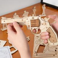 Gummiband-Revolver Holzbausatz