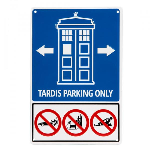 "Blechschild ""Police Call Box Parking Only"""