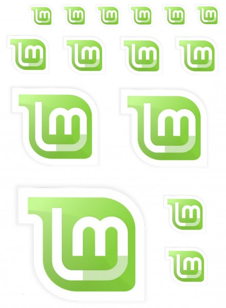 Maxi-Sticker - Linux Mint A4