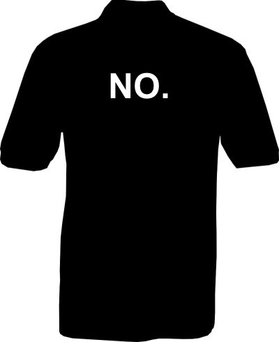 Polo-Shirt - NO. - Rückseite