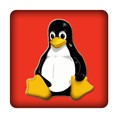 PC-Sticker - Linux - rot