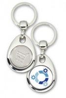 Schlüsselanhänger - Metall - kubuntu - Einkaufswagen-Chip