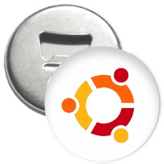 Flaschenöffner + Magnet - ubuntu