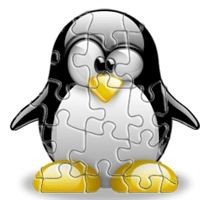 Notebook-Sticker - Tux Puzzel