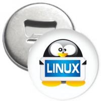 Flaschenöffner + Magnet - Linux Tux