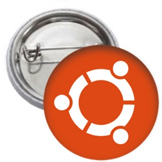 Ansteckbutton - ubuntu Logo