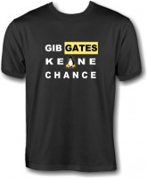 T-Shirt - Gib Gates keine Chance - Pinguin