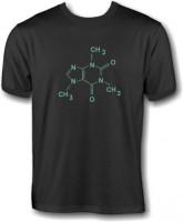 T-Shirt - Koffein Molekül