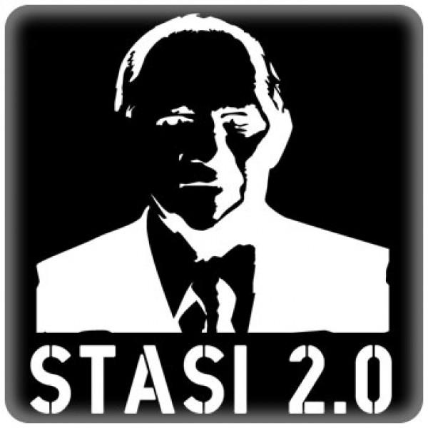 PC-Sticker - Stasi 2.0 - schwarz