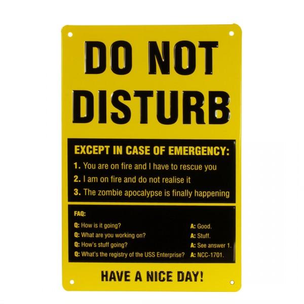 Blechschild Do Not Disturb
