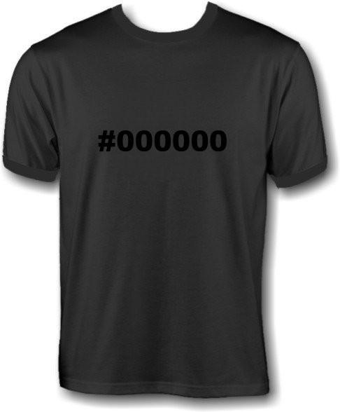 T-Shirt - #000000