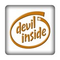 PC-Sticker - devil inside braun