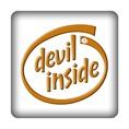 PC-Sticker - devil inside braun