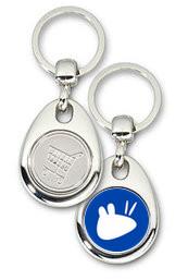 Schlüsselanhänger - Metall - xubuntu - Einkaufswagen-Chip