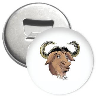 Flaschenöffner + Magnet - GNU