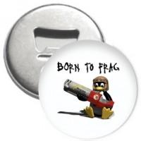 Flaschenöffner + Magnet - Born to Frag