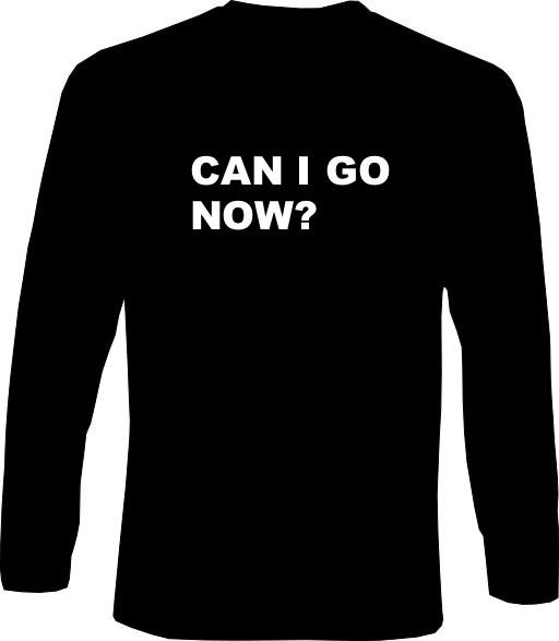 Langarm-Shirt - Can I go now