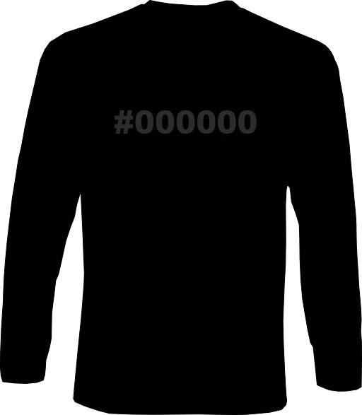 Langarm-Shirt - #000000